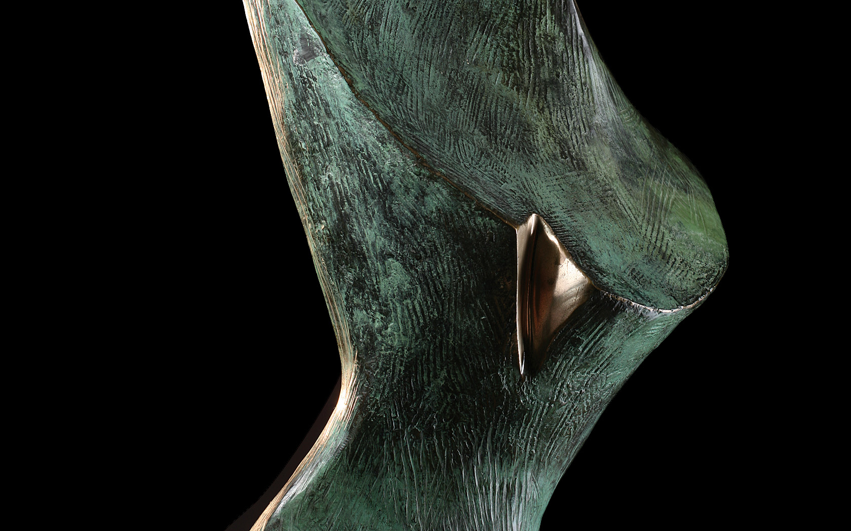 River Girl 1998 bronze H 123 cm