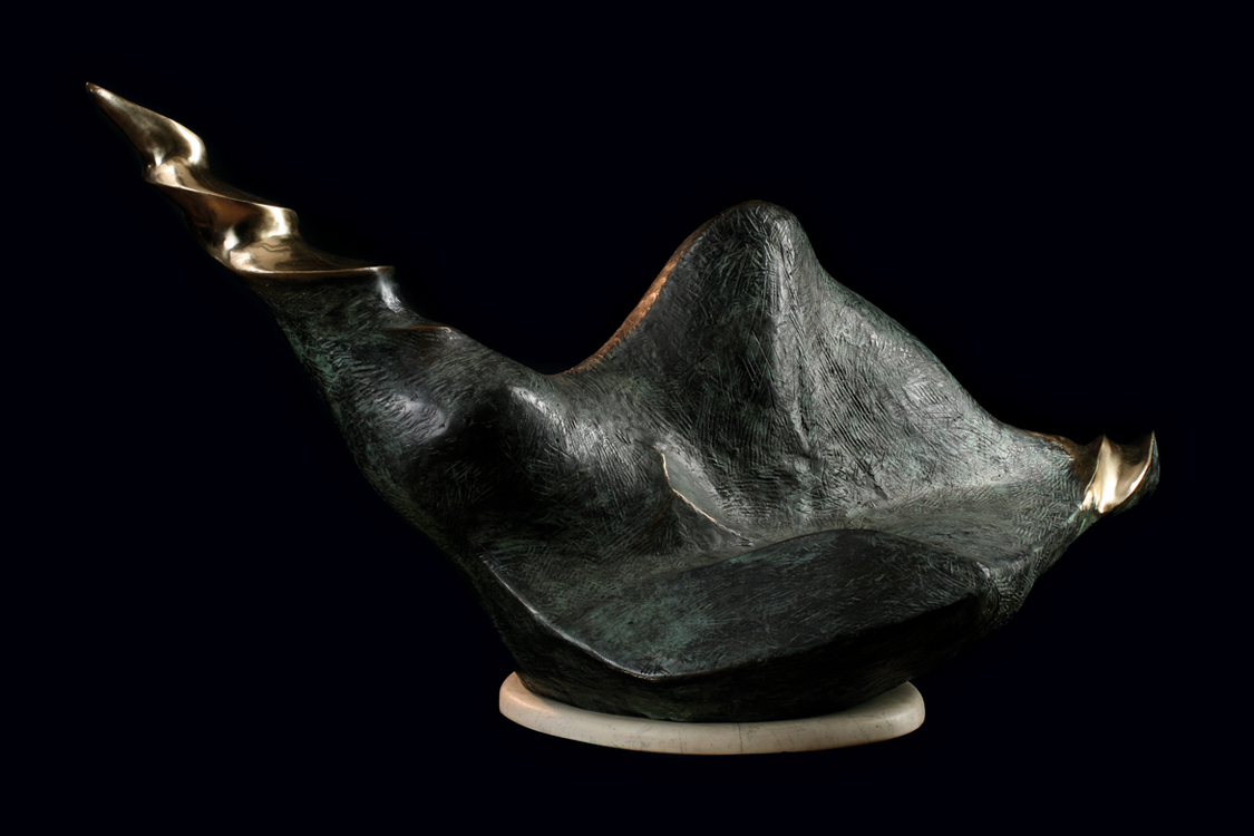 Baba Świr (Crazy dame) 1995 bronze L 141 cm