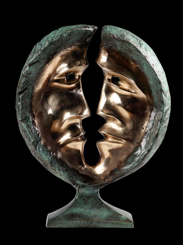Dialog (Dialogue) 2012 bronze H 31 cm