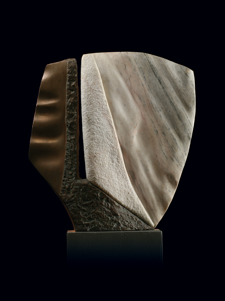 Exodus 1987 bronze and marble H 59 cm