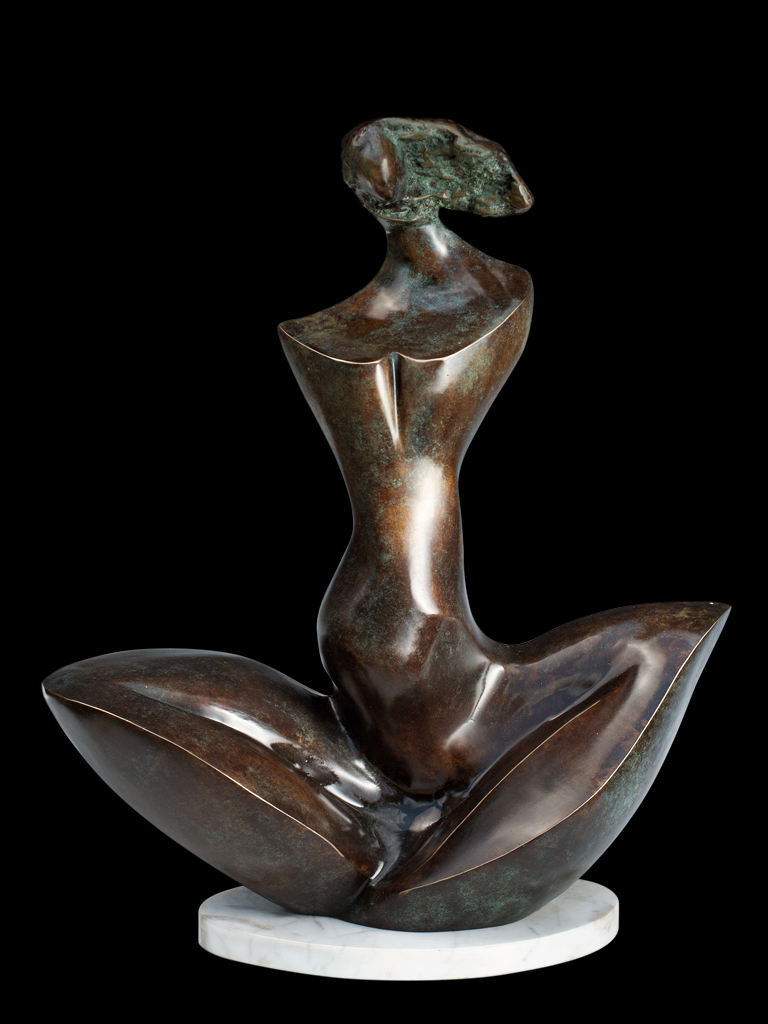 Kołysanka (Lullaby) 2000 bronze H 50 cm