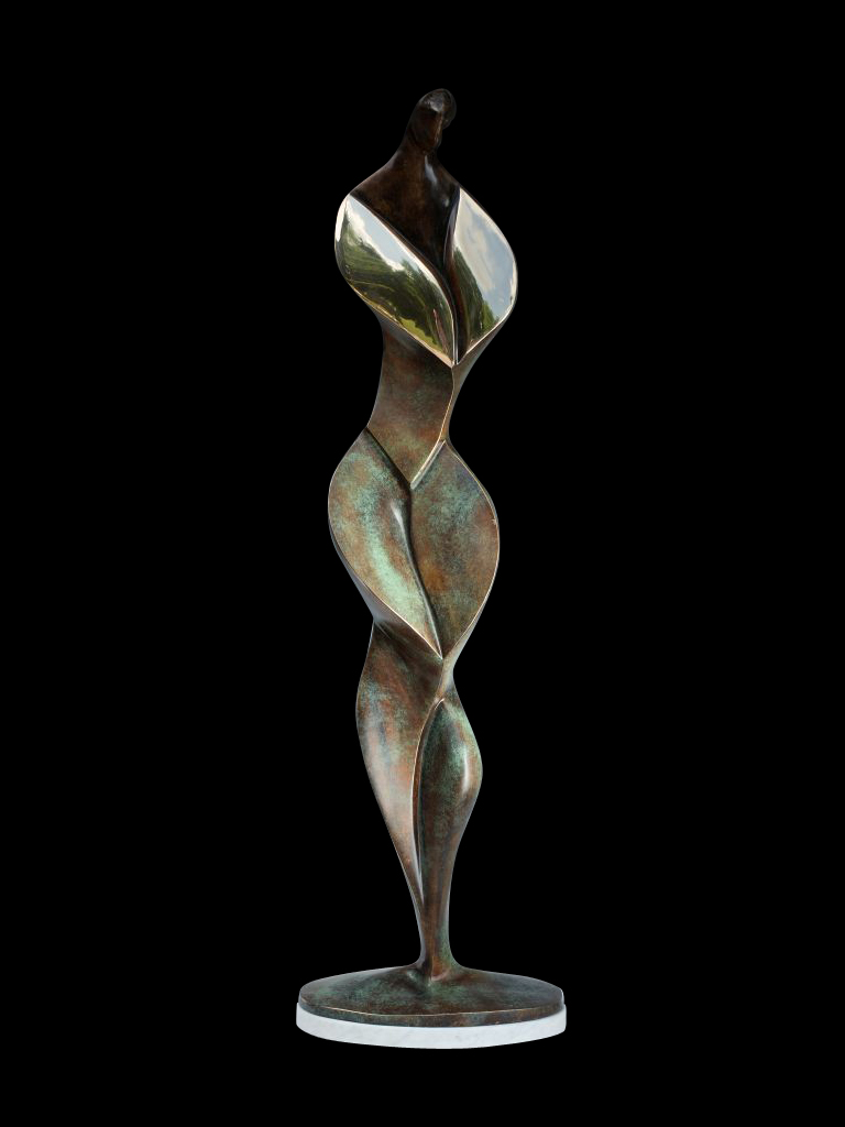 Kwiecista (Floral Lady) 2012 bronze H 90 cm
