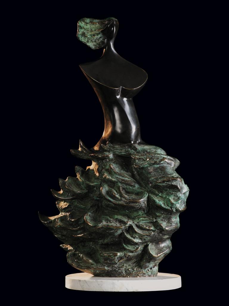 Młoda Odra (Young Oder) 2000 bronze H 85 cm