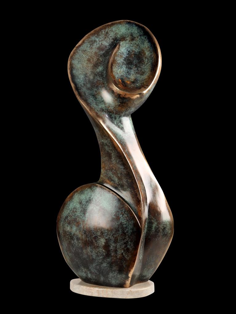 Muza (Muse) 2012 bronze H 92 cm