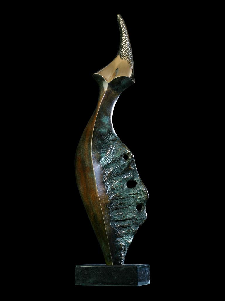 Pingwin II 2010 brąz H 70 cm