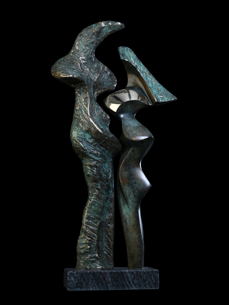 Ty i Ja (You and Me) 2010 bronze H 67cm