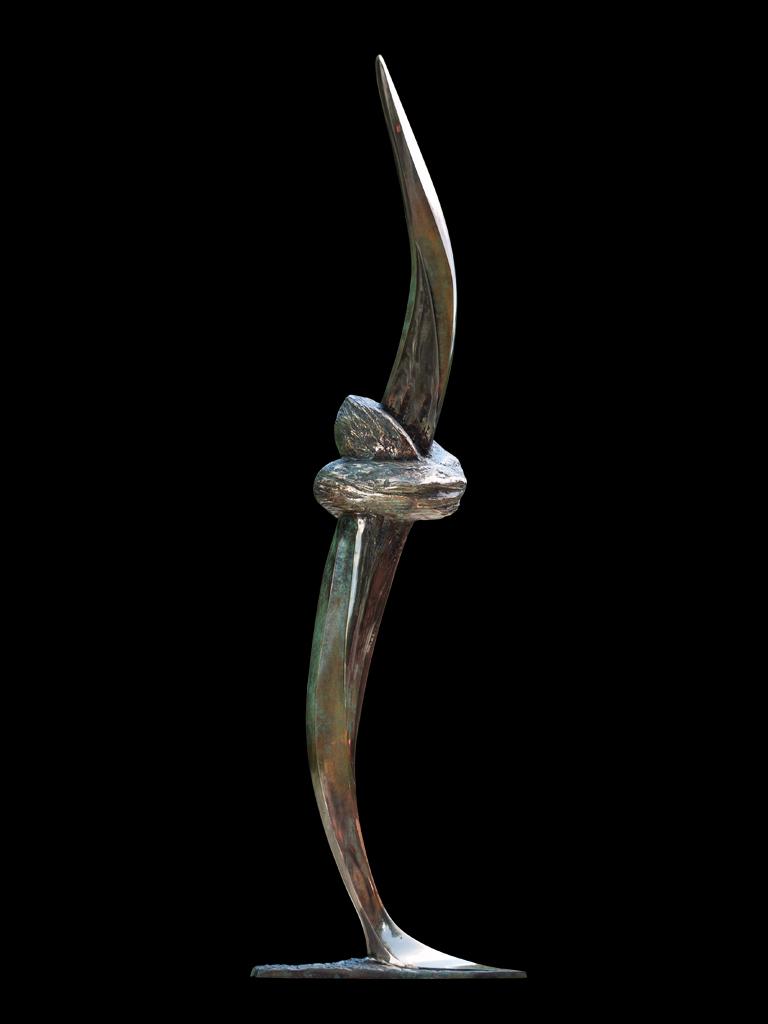 Węzeł czasu (Time knot) 2010 bronze H 151 cm