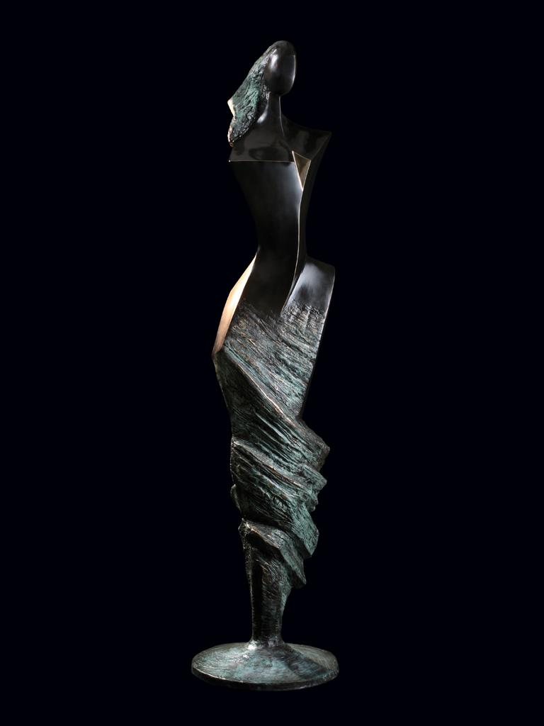 Księżniczka wiatru (Wind princess) 2003 bronze H 175 cm