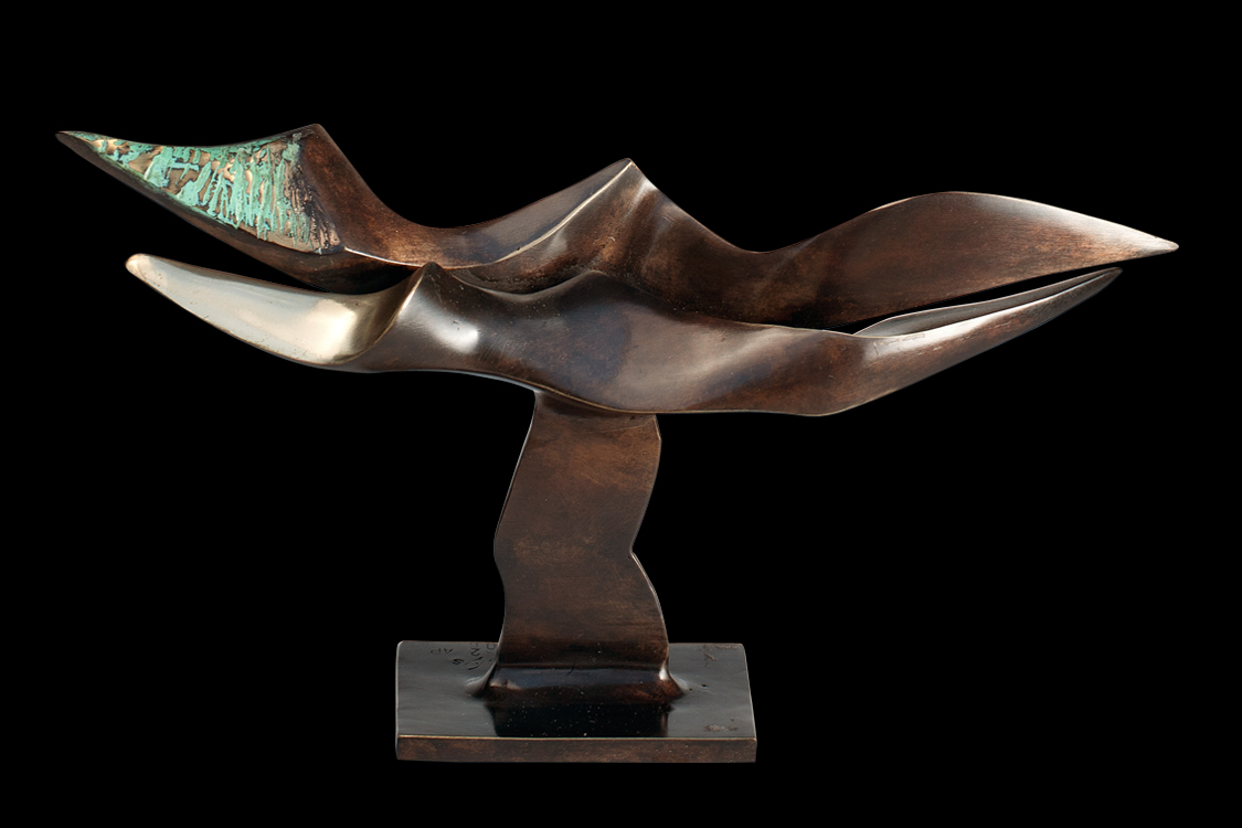 From the Panta Rhei Duet I cycle 2006 bronze L 25 cm